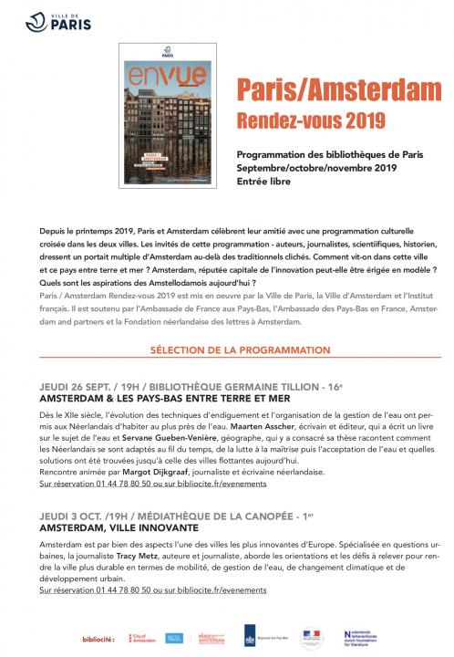 Communique de presse Paris Amsterdam