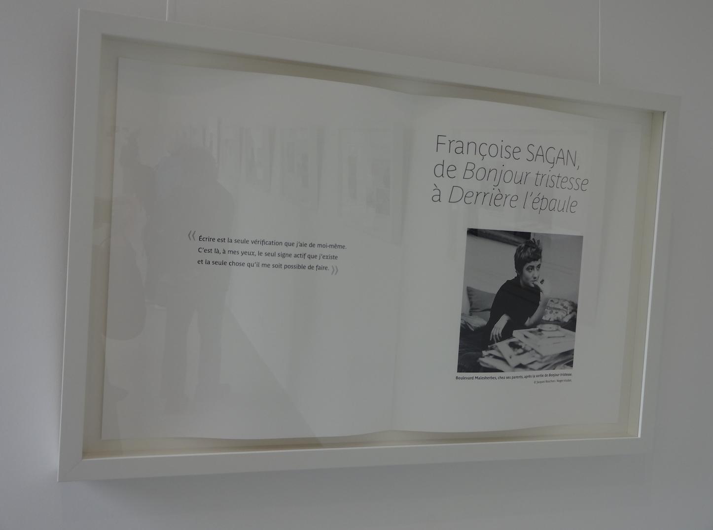 Exposition Sagan, de Bonjour Tristesse à Derrière l'épaule à la médiathèque Françoise Sagan